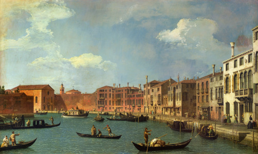 Picture no: 31000172 View of the Canal of Santa Chiara, Venice Created by: Canal, Giovanni Antonio & Bellotto, Bernardo