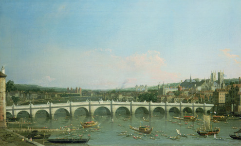 Picture no: 31000173 Westminster Bridge from the North with Lambeth Palace in distance Created by: Canal, Giovanni Antonio & Bellotto, Bernardo