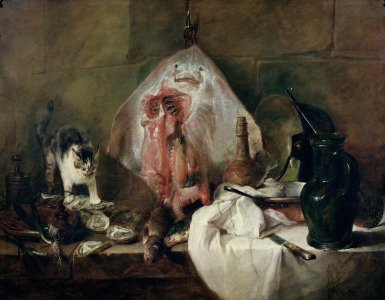 Picture no: 31000190 The Ray or, The Kitchen Interior, 1728 Created by: Chardin, Jean Siméon