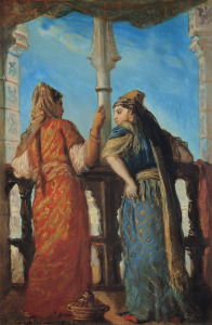 Picture no: 31000197 Jewish Women at the Balcony, Algiers, 1849 Created by: Chasseriau, Theodore