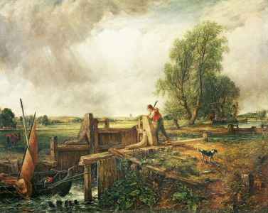 Picture no: 31000220 A Boat Passing a Lock Created by: Constable, John