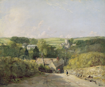 Picture no: 31000222 A View of Osmington Village with the Church and Vicarage, 1816 Created by: Constable, John