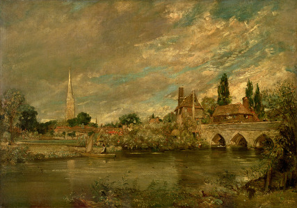 Picture no: 31000249 The Bridge of Harnham and Salisbury Cathedral, c.1820 Created by: Constable, John