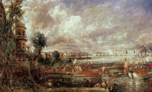Picture no: 31000251 The Opening of Waterloo Bridge, Whitehall Stairs, 18th June 1817 Created by: Constable, John