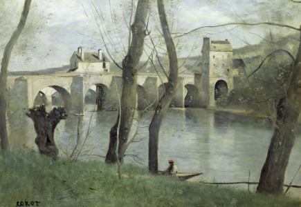 Picture no: 31000273 The Bridge at Mantes Created by: Corot, Jean Baptiste Camille