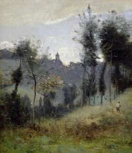 Picture no: 31000275 Canteleu near Rouen Created by: Corot, Jean Baptiste Camille