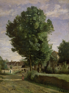 Picture no: 31000276 Outskirts of a village near Beauvais, c.1850 Created by: Corot, Jean Baptiste Camille