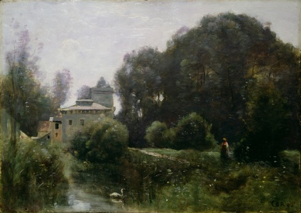 Picture no: 31000283 Souvenir of the Villa Borghese, 1855 Created by: Corot, Jean Baptiste Camille