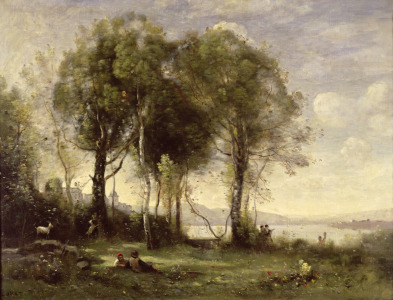 Picture no: 31000285 The Goatherds of Castel Gandolfo, 1866 Created by: Corot, Jean Baptiste Camille