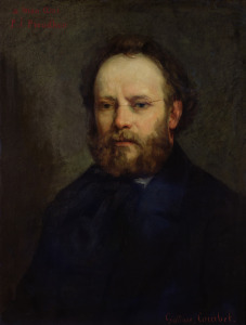 Picture no: 31000295 Portrait of Pierre Joseph Proudhon 1865 Created by: Courbet, Gustave