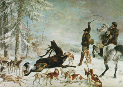 Picture no: 31000299 The Death of the Deer, 1867 Created by: Courbet, Gustave