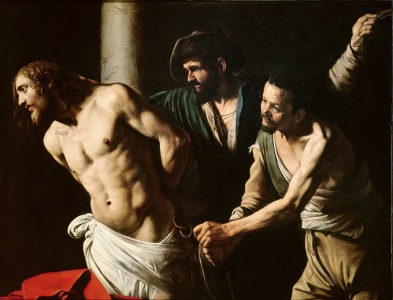 Picture no: 31000326 The Flagellation of Christ, c.1605-7 Created by: da Caravaggio, Michelangelo Merisi