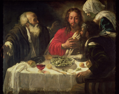 Picture no: 31000330 The Supper at Emmaus, c.1614-21 Created by: da Caravaggio, Michelangelo Merisi