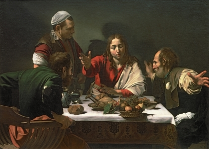 Picture no: 31000331 The Supper at Emmaus, 1601 Created by: da Caravaggio, Michelangelo Merisi
