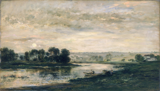 Picture no: 31000332 Evening on the Oise, 1872 Created by: Daubigny, Charles-François