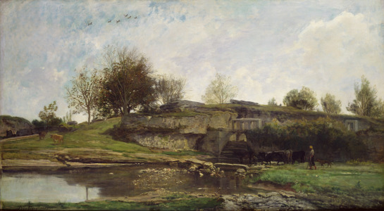Picture no: 31000334 The Lock at Optevoz, 1855 Created by: Daubigny, Charles-François