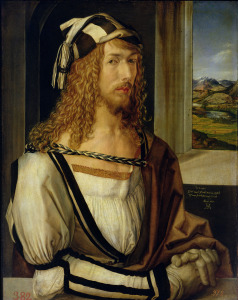 Picture no: 31000364 Self Portrait with Gloves, 1498 Created by: Dürer, Albrecht
