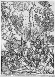 Picture no: 31000377 Christ mourned by the Virgin and the female Saints, from 'The Great Passion' ser Created by: Dürer, Albrecht