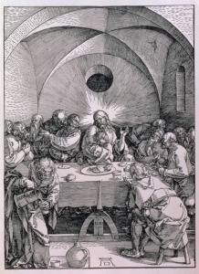 Picture no: 31000380 The Last Supper from the 'Great Passion' series, pub. 1511 Created by: Dürer, Albrecht