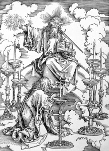Picture no: 31000388 The Vision of The Seven Candlesticks from the 'Apocalypse' or 'The Revelations o Created by: Dürer, Albrecht