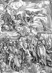 Picture no: 31000389 The Babylonian Whore from the 'Apocalypse' or 'The Revelations of St. John the D Created by: Dürer, Albrecht