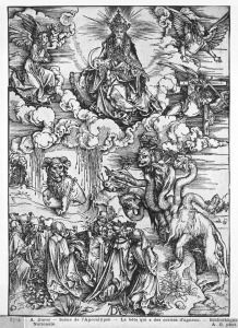 Picture no: 31000391 Scene from the Apocalypse, The seven-headed and ten-horned dragon Created by: Dürer, Albrecht
