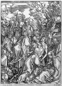 Picture no: 31000392 The entombment of Christ, from 'The Great Passion' series, 1497-1500 Created by: Dürer, Albrecht