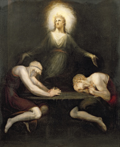 Picture no: 31000433 The Appearance of Christ at Emmaus, 1792 Created by: Füssli, Johann Heinrich d.J.