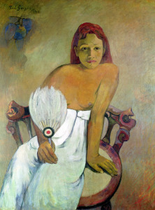 Picture no: 31000471 Girl with fan, 1902 Created by: Gauguin, Paul