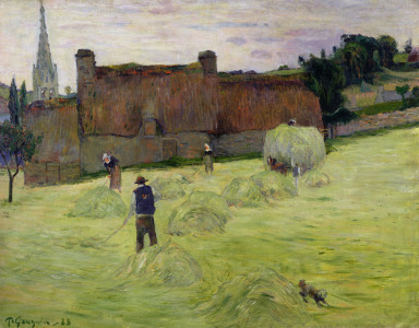 Picture no: 31000472 Haymaking in Brittany, 1888 Created by: Gauguin, Paul