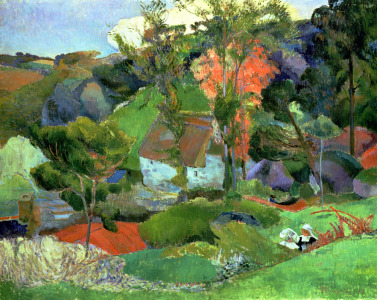 Picture no: 31000474 Landscape at Pont Aven, 1888 Created by: Gauguin, Paul