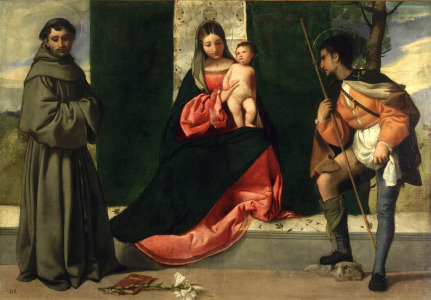 Picture no: 31000518 Virgin and Child with St. Anthony of Padua and St. Rocco Created by: Giorgione (Giorgio da Castelfranco | Barbarelli)