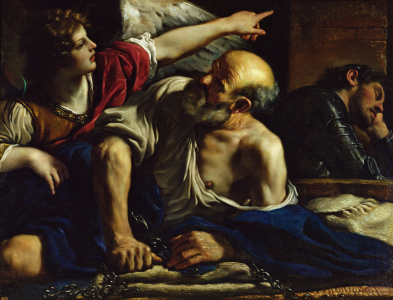 Picture no: 31000613 St. Peter Freed by an Angel Created by: Guercino, Giovanni Francesco Barbieri