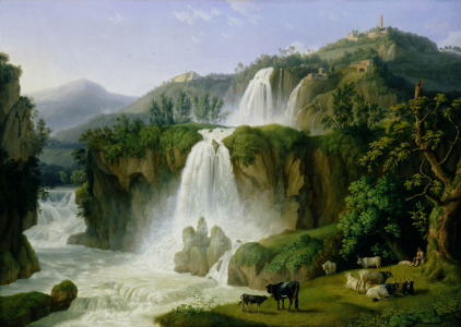 Picture no: 31000619 The Waterfall at Tivoli, 1785 Created by: Hackert, Philipp