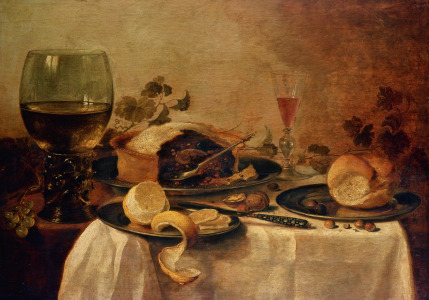 Picture no: 31000638 Still Life with Fruit Pie, 1635 Created by: Heda, Willem Claesz