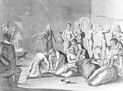 Picture no: 31000667 Scene in a Madhouse, from A Rake's Progress Created by: Hogarth, William