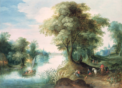 Picture no: 31000699 River Landscape Created by: Jan Brueghel der Ältere
