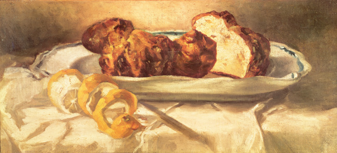 Picture no: 31000777 Still life with brioches and lemon, 1873 Created by: Manet, Edouard