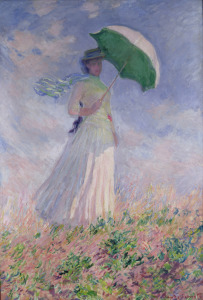 Picture no: 31000841 Woman with a Parasol turned to the Right, 1886 Created by: Monet, Claude