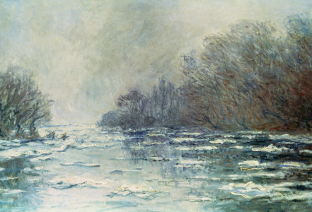 Picture no: 31000900 The Break up at Vetheuil, c.1883 Created by: Monet, Claude
