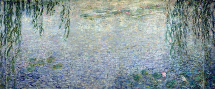Picture no: 31000918 Waterlilies: Morning with Weeping Willows, detail of the central section, 1915-2 Created by: Monet, Claude