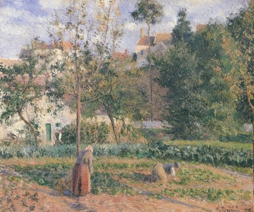 Picture no: 31000985 Vegetable Garden at the Hermitage, Pontoise, 1879 Created by: Pissarro, Camille