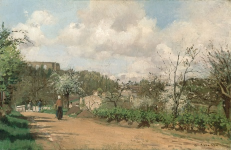 Picture no: 31000986 View from Louveciennes, 1869-70 Created by: Pissarro, Camille