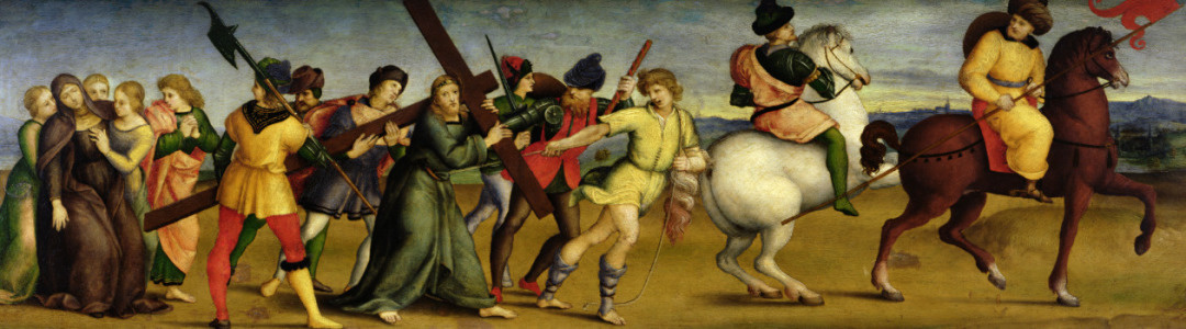 Picture no: 31000989 The Procession to Calvary, c.1504-05 Created by: Raffaello Santi (Raffael)