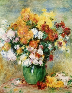 Picture no: 31001115 Bouquet of Chrysanthemums, c.1884 Created by: Renoir, Pierre-Auguste
