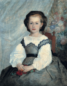 Picture no: 31001120 Portrait of Mademoiselle Romaine Lacaux, 1864 Created by: Renoir, Pierre-Auguste