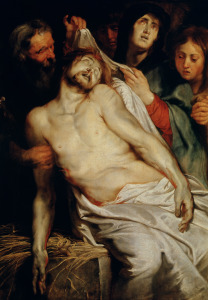 Picture no: 31001208 Triptych of Christ on the Straw, centre panel depicting the Lamentation of Chris Created by: Rubens, Peter Paul