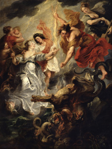 Picture no: 31001234 The Reconciliation of Marie de Medici and her son, 15th December 1621, 1621-25 Created by: Rubens, Peter Paul