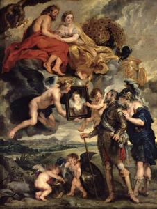 Picture no: 31001240 The Medici Cycle: Henri IV Receiving the Portrait of Marie de Medici 1621-25 Created by: Rubens, Peter Paul