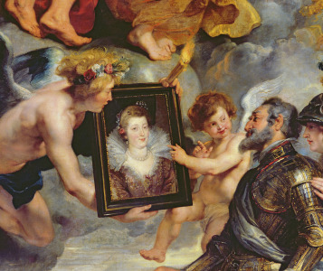 Picture no: 31001241 The Medici Cycle: Henri IV Receiving the Portrait of Marie de Medici 1621-25 Created by: Rubens, Peter Paul